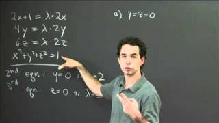 Lagrange multipliers (3 variables)   MIT 18.02SC Multivariable Calculus, Fall 2010