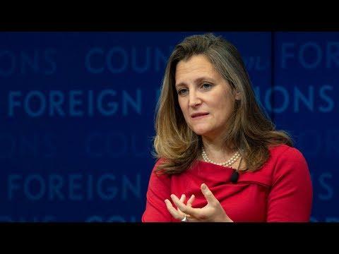 Freeland postpones UN speech, returns to Canada for NAFTA talks