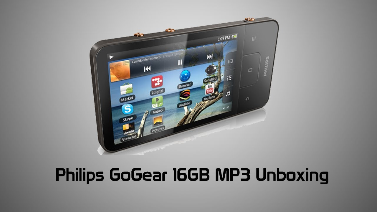 Philips GoGear 16GB Android MP3 Player Unboxing YouTube