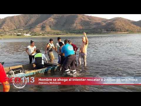 VIDEO Hombre se ahoga al intentar rescatar a 2 niñas en la Presa del Bosque, Zitácuaro