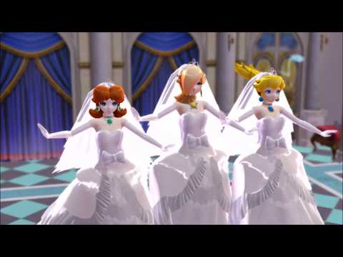 [MMD] Wedding Princess Peach Daisy and Rosalina