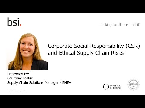 Corporate Social Responsibility and Ethical Risks in the Supply Chain