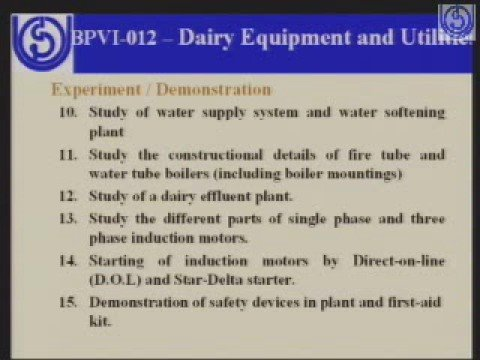 Diploma in Dairy Technology
