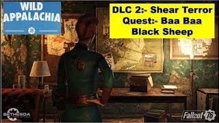 Fallout 76 Shear Terror DLC - Baa Baa Black Sheep   Find all clues in Park, Find Wolf