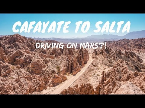 DRIVING ON MARS?! ROADTRIP FROM CAFAYATE TO SALTA | QUEBRADA DE LAS FLECHAS | ARGENTINA TRAVEL VLOG