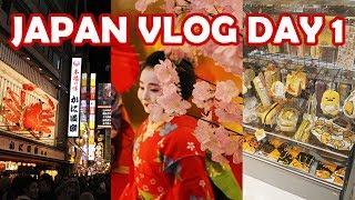 JAPAN VLOG DAY 1 OF 12 (HOTEL REVIEWS, JR PASS, BULLET TRAIN, OSAKA DOTONBORI AT NIGHT, & MORE!)