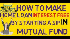 Interest free home loan investing in mutual fund sip trick