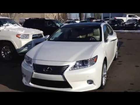 Lexus Is 350 >> 2014 White Lexus ES 350 Technology Package Edmonton - YouTube