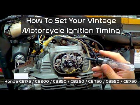 How to set ignition timing Honda CB350 CB360 CB450 - YouTube