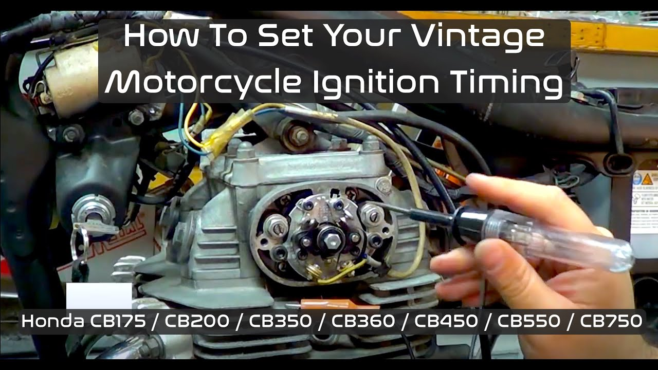 How to set ignition timing Honda CB350 CB360 CB450  YouTube