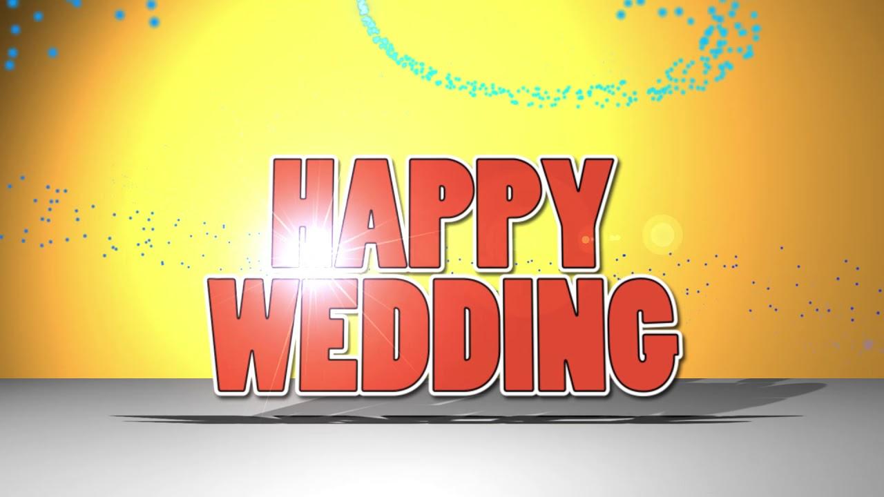 HAPPY WEDDING 結婚式のオープニングムービー無料ダウンロード素材