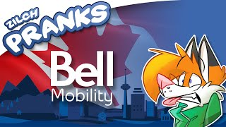 bell mobility prank call