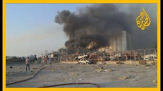 انفجار ضخم يهز العاصمة اللبنانية بيروت.. التفاصيل مع مراسل الجزيرة