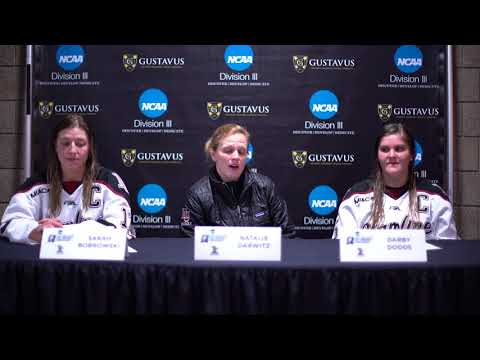 2018 NCAA Division III Women's Ice Hockey First Round Press Conference - Hamline