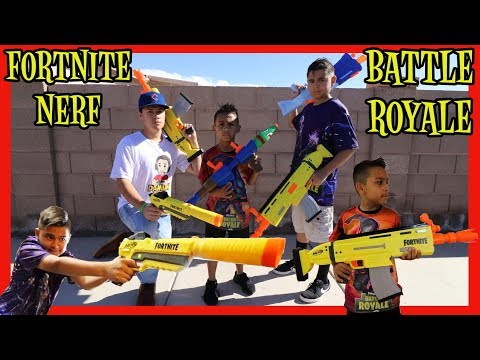 FORTNITE NERF BATTLE ROYALE | FORTNITE WATER GUNS | D&D SQUAD BATTLES