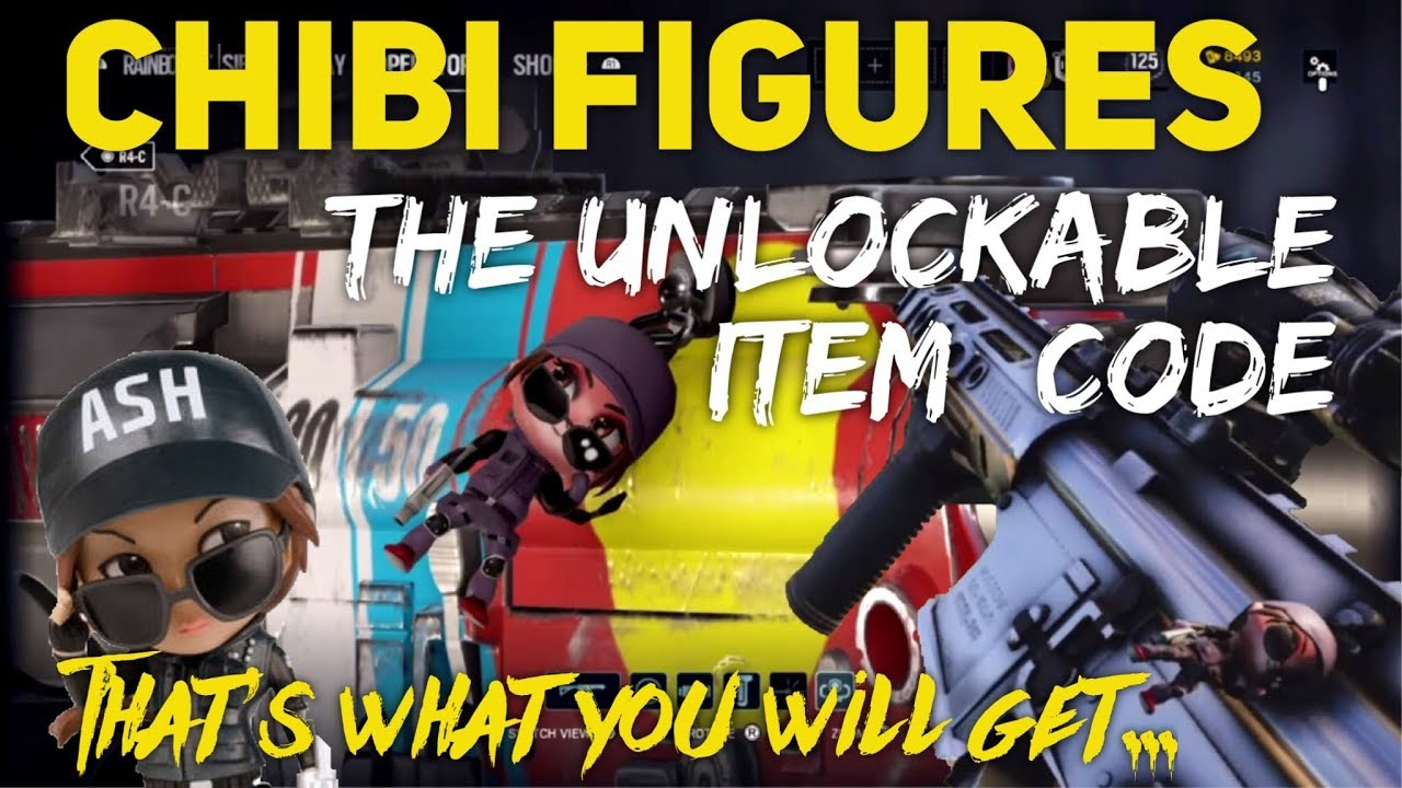 Chibi Figures Code - thats the UNIQUE IN-GAME ITEM (Ash) - unlock TALISMAN  - Rainbow Six Siege