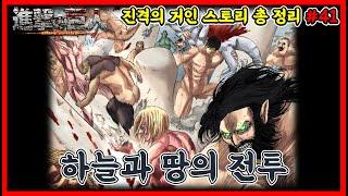 진격의 거인 스토리 총 정리(시간순서대로보기) #41 - 하늘과 땅의 전투