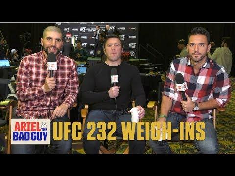 UFC 232 Jon 'Bones' Jones-Alexander Gustafsson Weigh-In Show | Ariel & The Bad Guy