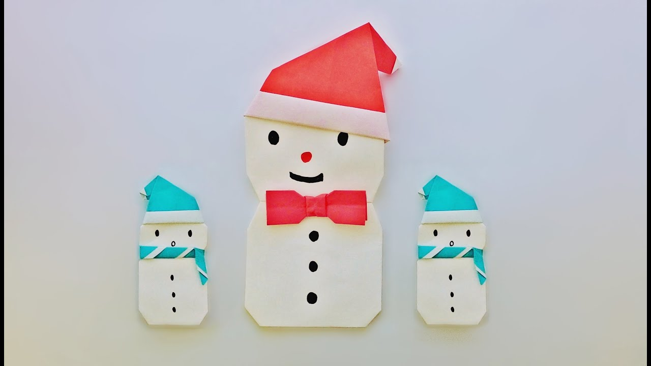 origami snowman ����������������� ������������������ youtube