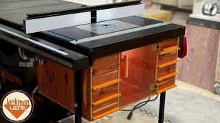 Ultimate Router Table & Storage Cabinet (table saw extension wing)