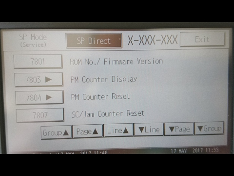 Service Mode PM Counter Reset Ricoh MP2001SP MP2501