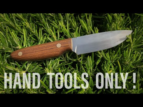 How To Make A Knife Using Hand Tools Only !