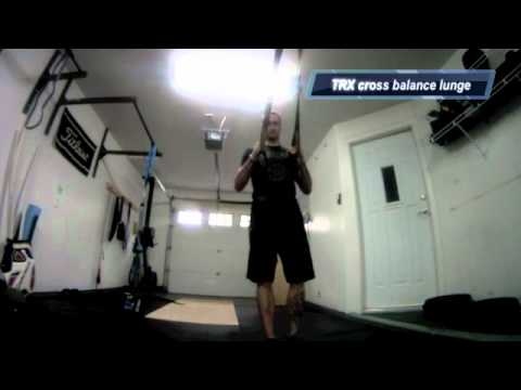 TRX cross balance lunge