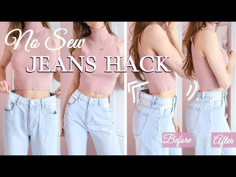 how-to-easily-downsize-the-waist-in-jeans-♡-no-risk-no-sewing-necessary