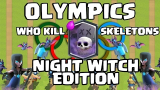 Clash Olympics - Which LEGENDARY Troop KILL More Skeletons ? [NIGHT WITCH EDITION]