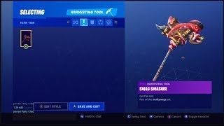 "NEW UNLOCKING NEW BLACKHEART PICKAXE ""SWAG SMASHER"" sur Fortnite Battle Royale Saison 8"