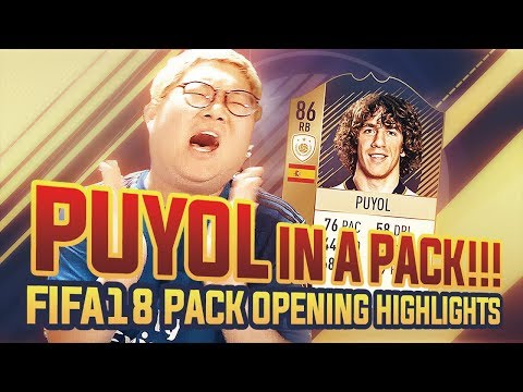 GAMST : PUYOL IN A PACK!!! | FIFA 18 PACK OPENING HIGHLIGHTS | FUT LIVE REACTION | FIFA 18