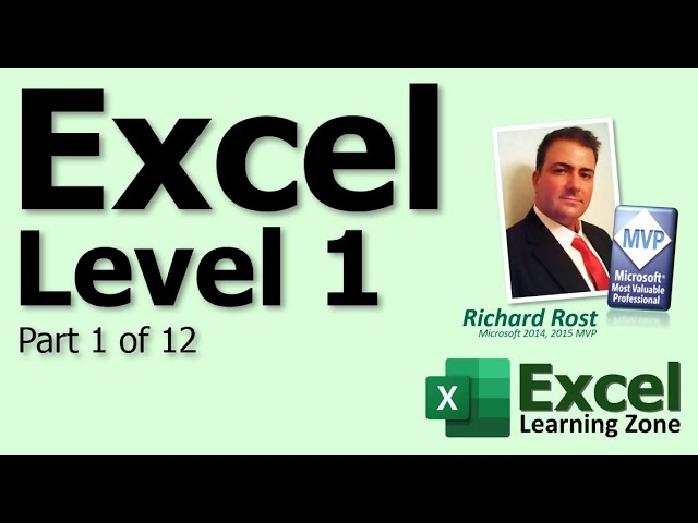 Microsoft Excel 2010 Tutorial - Part 01 of 12 - Excel Interface 1