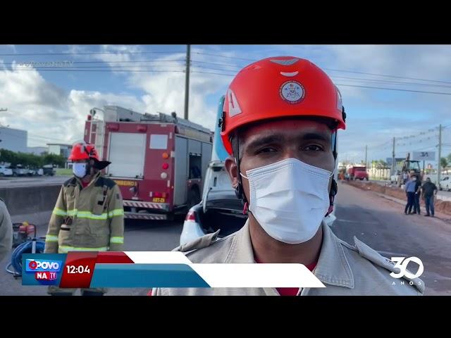 Passageiro morre e duas pessoas ficam feridas em acidente na BR-230, em Cabedelo- O Povo na TV