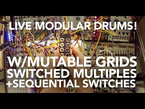 Eurorack Drumming Tutorial with Mutable Grids, Circadian Rhythms & Switched Multiples