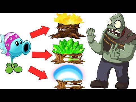 All Pea Pvz2 Vs All Torchwood Pvz2 in Plants vs Zombies 2: Gameplay 2018.