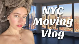 NYC Moving Vlog | MOVE DAY, New Place, ETC