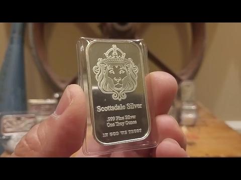 Week 3: Scottsdale 1 oz Silver Bars / 5 oz Tombstone & GSM Golden State Mint 1 oz Bars