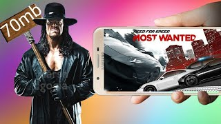 (70mb) Download NFS MOST WANTED highly compressed in ppsspp