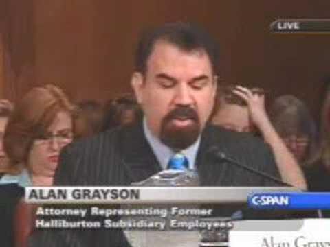 Alan Grayson on Waste & Fraud in Iraq