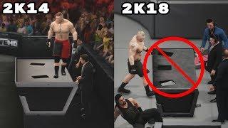 wWE 2K14 Details vs. WWE 2K18