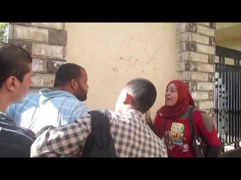 طالبة ب100 راجل تواجه بلطجي جامعة المنصورة
