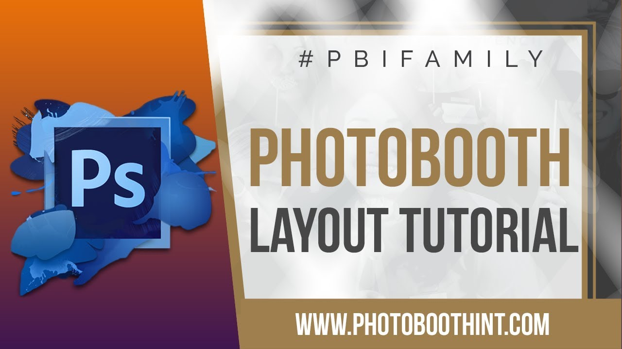 Contoh Desain Backdrop Photo Booth Layouts Photoshop Tutorial Social Booth