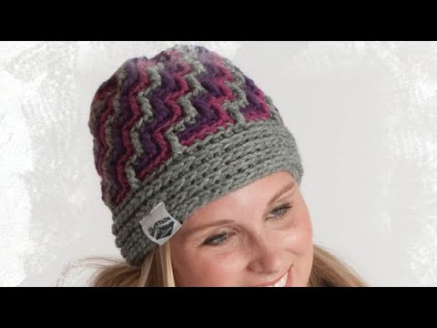 How To Crochet A Hat: Crystal Ice Hat