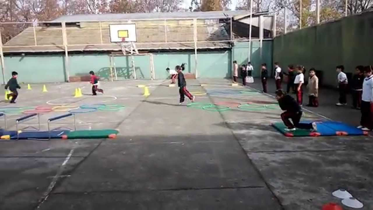 Circuito Motriz : Educación física circuito habilidades motrices escuela