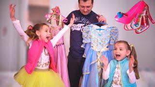 Папа и девочки - веселые истории про платья и косметику для детей