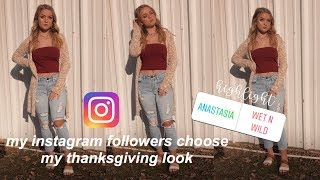 instagram-chooses-my-thanksgiving-look-makeup-hair-outfit