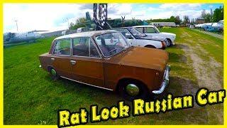 Strange Tuning Classic Russia Car VAZ LADA 2101. Unusual Costume Soviet Cars in Cars Show