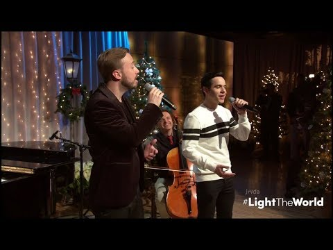 David Archuleta & Peter Hollens @ LightTheWorldLIVE - ANGELS WE HAVE HEARD SO HIGH (12 Dec 2017)