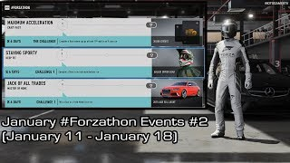 Forza Motorsport 7 - January #Forzathon Events #2 (January 11 - January 18) [4K 60FPS]