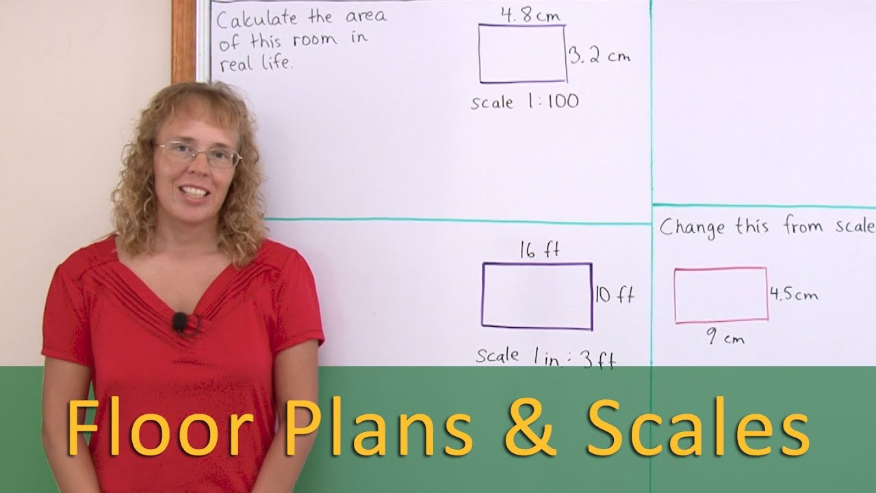 Floor plans and scale ratio - 7th grade math